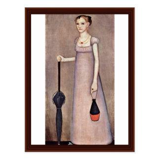 Portrait Of Harriet Leavens By Phillips Ammi Postcard