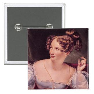Portrait of Harriet Smithson 2 Inch Square Button