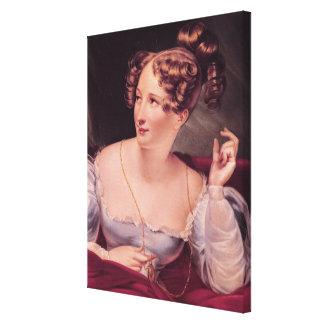 Portrait of Harriet Smithson Canvas Print