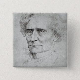Portrait of Hector Berlioz Button