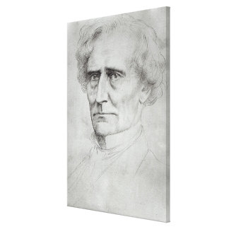 Portrait of Hector Berlioz Canvas Print
