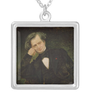 Portrait of Hector Berlioz Silver Plated Necklace
