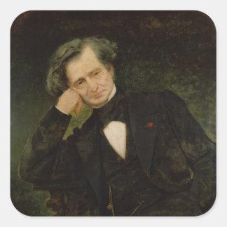 Portrait of Hector Berlioz Square Sticker