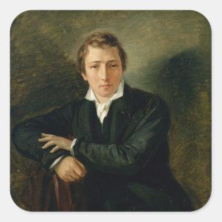 Portrait of Heinrich Heine  1831 Square Sticker