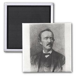 Portrait of Heinrich Schliemann Magnet