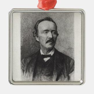 Portrait of Heinrich Schliemann Metal Ornament