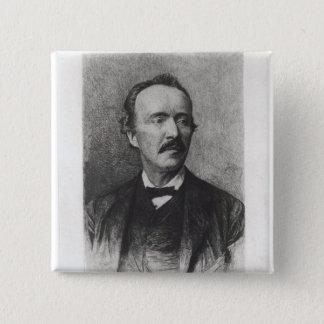 Portrait of Heinrich Schliemann Pinback Button