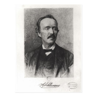 Portrait of Heinrich Schliemann Postcard