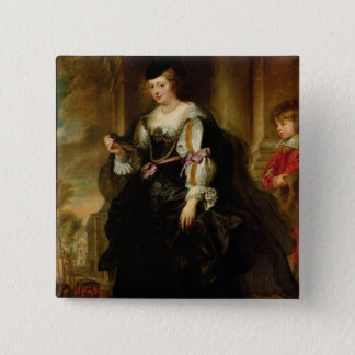 Portrait of Helene Fourment with a Coach, c.1639 Pinback Button