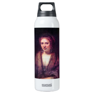 Portrait of Hendrickje Stoffels by Rembrandt 16 Oz Insulated SIGG Thermos Water Bottle