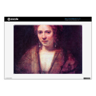 Portrait of Hendrickje Stoffels by Rembrandt Acer Chromebook Decal