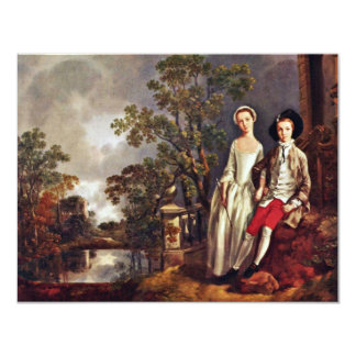 Portrait Of Heneage Lloyd And His Sister By Thomas Custom Announcement