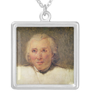 Portrait of Henri Gregoire Silver Plated Necklace