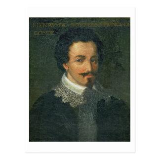 Portrait of Henri I de Bourbon Conde (oil on panel Postcard