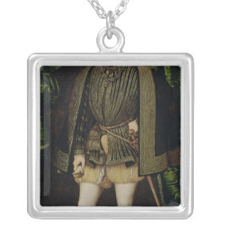 Portrait of Henri II Silver Plated Necklace
