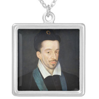Portrait of Henri III Square Pendant Necklace