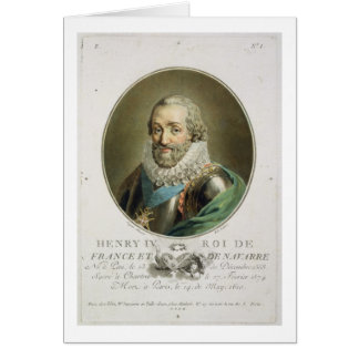 Portrait of Henri IV, King of France and Navarre ( Card