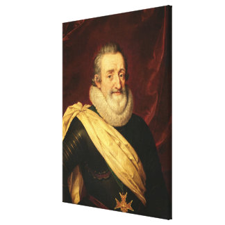 Portrait of Henri IV  King of France Canvas Print