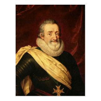 Portrait of Henri IV  King of France Post Card
