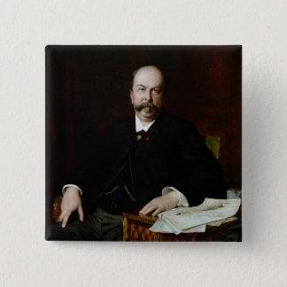 Portrait of Henri Meilhac Button