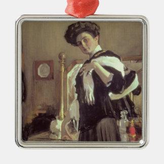 Portrait of Henrietta Hirshmann , 1907 Metal Ornament