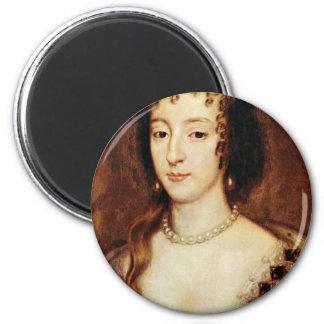 Portrait Of Henrietta Of France Queen Of England Fridge Magnets