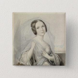 Portrait of Henriette Gertrude Sontag Pinback Button