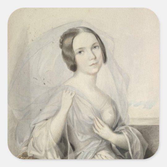 Portrait of Henriette Gertrude Sontag Square Sticker