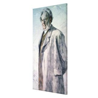 Portrait of Henrik Ibsen, 1895 Canvas Print