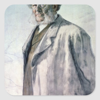 Portrait of Henrik Ibsen, 1895 Square Sticker
