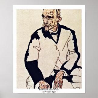 Portrait Of Henry Benes By Schiele Egon Print