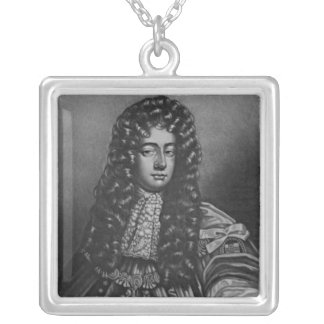 Portrait of Henry Duke of Grafton Silver Plated Necklace