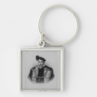Portrait of Henry Fitzalan, 12th Earl of Silver-Colored Square Keychain