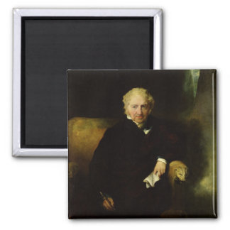 Portrait of Henry Fuseli 2 Inch Square Magnet