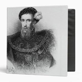 Portrait of Henry Howard  Earl of Surrey 3 Ring Binder