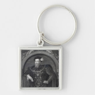 Portrait of Henry Howard  Earl of Surrey Silver-Colored Square Keychain
