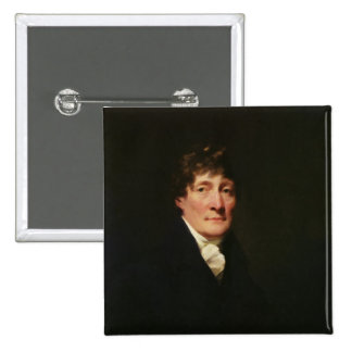 Portrait of Henry Mackenzie 2 Inch Square Button