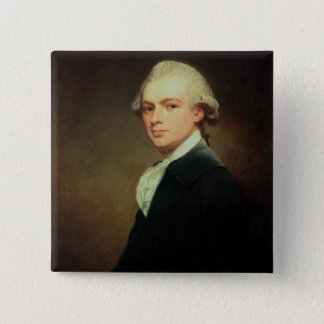 Portrait of Henry Russell (1751-1836) c.1783 (oil Pinback Button