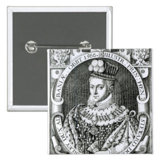 Portrait of Henry Stewart 2 Inch Square Button