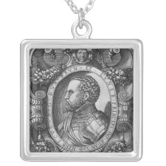Portrait of Henry the Younger Silver Plated Necklace