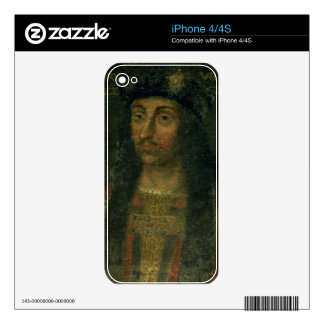 Portrait of Henry VII (1457-1509) (oil on panel) Decals For The iPhone 4