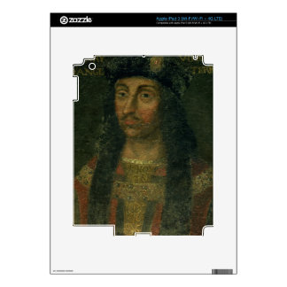 Portrait of Henry VII (1457-1509) (oil on panel) iPad 3 Decals