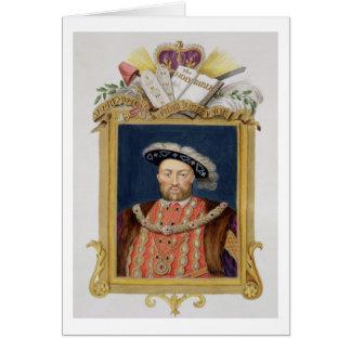 Portrait of Henry VIII (1491-1547) as Defender of Card