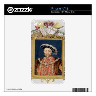 Portrait of Henry VIII (1491-1547) as Defender of iPhone 4S Skins