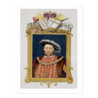 Portrait of Henry VIII (1491-1547) as Defender of Postcard