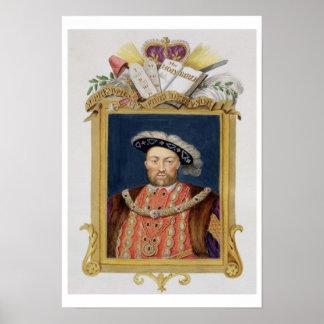 Portrait of Henry VIII (1491-1547) as Defender of Poster