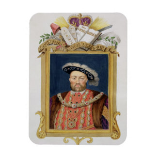 Portrait of Henry VIII (1491-1547) as Defender of Rectangular Photo Magnet