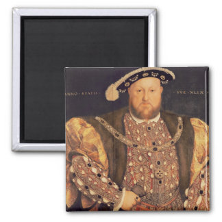 Portrait of Henry VIII  aged 49, 1540 2 Inch Square Magnet