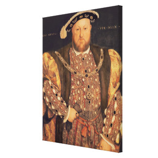 Portrait of Henry VIII  aged 49, 1540 Canvas Print