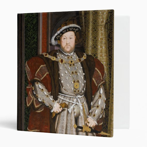 Portrait of Henry VIII by Hans Holbein the Younger 3 Ring Binders